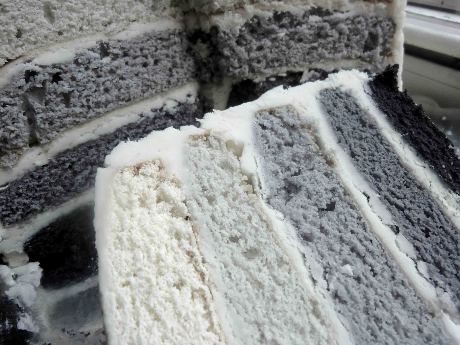 Five Shades Of Grey Ombre Cake Diary Of A Mad Hausfrau