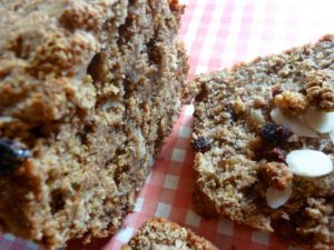 Wheat Germ Banana Bread With Almonds Mulberries Amp Red