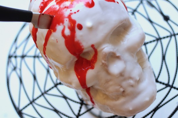 Knife In The Head Skull Cake Diary Of A Mad Hausfrau